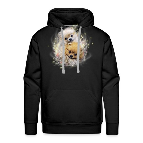 Pomeranian Shirt - Fluffypom Paar - Zwergspitz - Männer Premium Hoodie