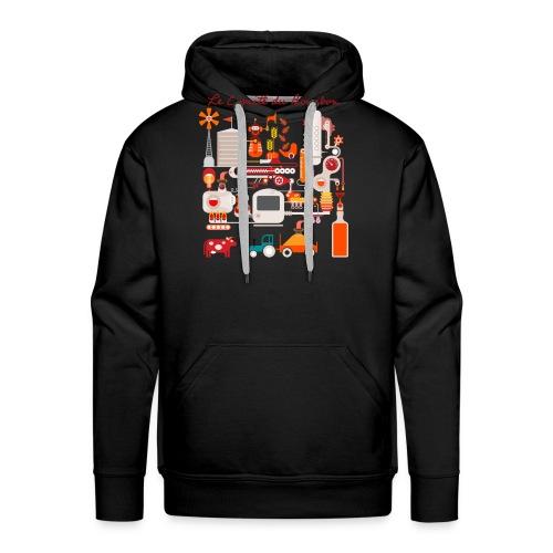 Le Comité du Bourbon - Sweat-shirt à capuche Premium pour hommes