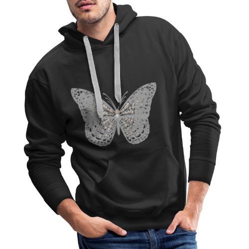Süßer Schmetterling mit filigranen Totenköpfen - Männer Premium Hoodie
