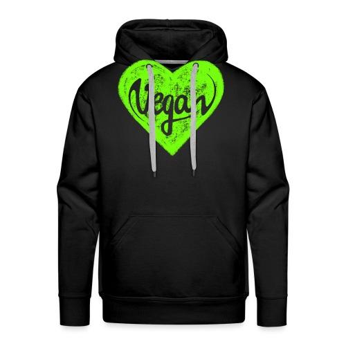 Vegan, Herz, I Love, Grün, Öko, Natur Ich Liebe - Männer Premium Hoodie