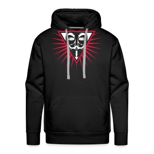 Anonymous NWO logo 3c - Sweat-shirt à capuche Premium pour hommes