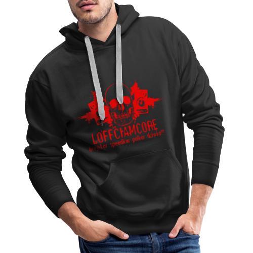 Loffciamcore Red - Bluza męska Premium z kapturem