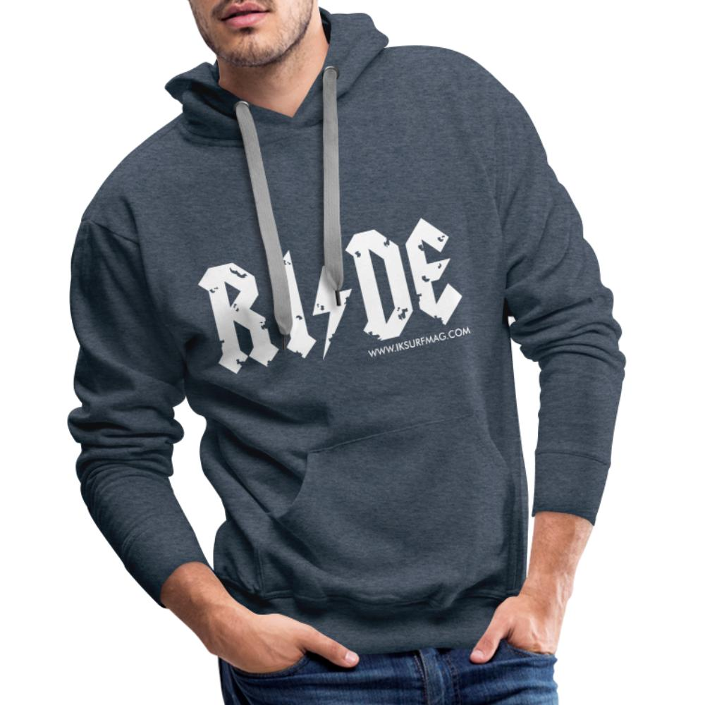RIDE - Men's Premium Hoodie - heather denim
