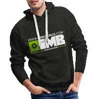 IMB Logo - Men's Premium Hoodie charcoal grey