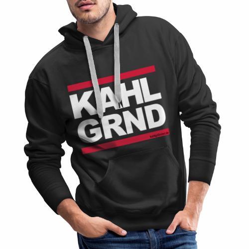 Kahlgründer KAHL GRND - WEIß/ROT - Männer Premium Hoodie