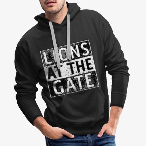 LIONS AT THE GATE BAND LOGO - Mannen Premium hoodie