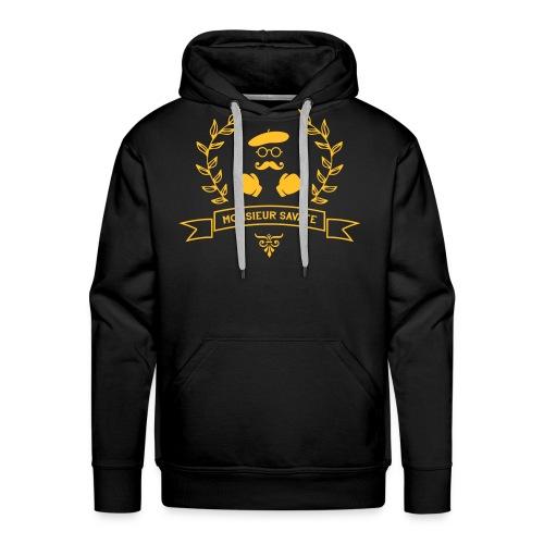 Monsieur Savate logo1 - Sweat-shirt à capuche Premium pour hommes