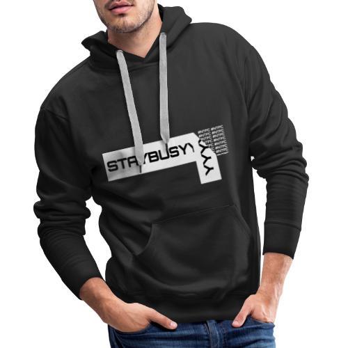 Weisse Abgezogene StayBusy Folie - Männer Premium Hoodie