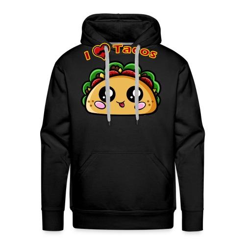 I Love Tacos - Sweat-shirt à capuche Premium pour hommes