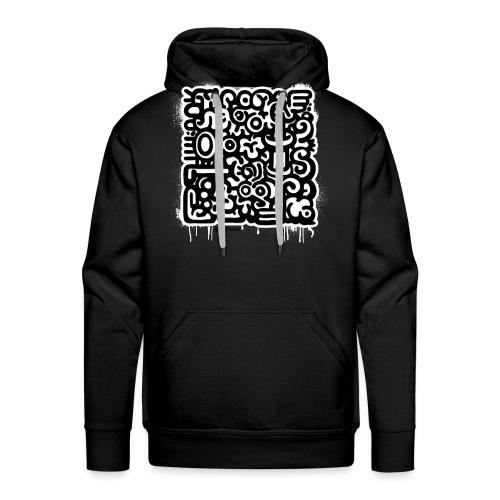 Mike Peter Henry - Street art - Number 05 black - Sweat-shirt à capuche Premium pour hommes