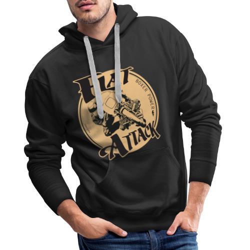N 179 FLAT ATTACK 2 - Sweat-shirt à capuche Premium pour hommes