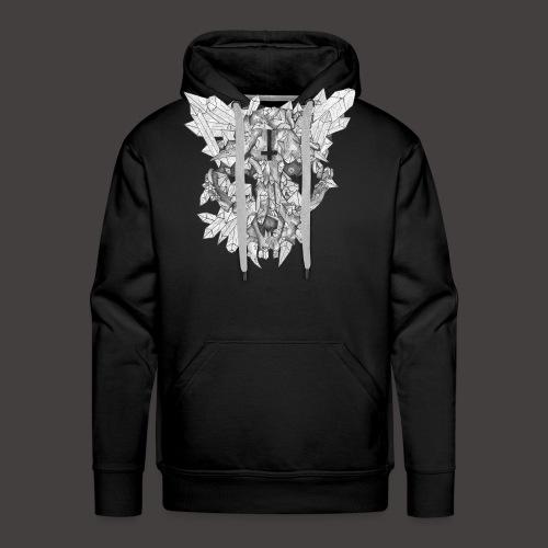 Le Chat de Cristal - Sweat-shirt à capuche Premium pour hommes