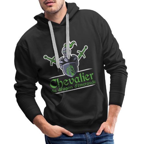 Chevalier du dragon d émeraude - Sweat-shirt à capuche Premium pour hommes