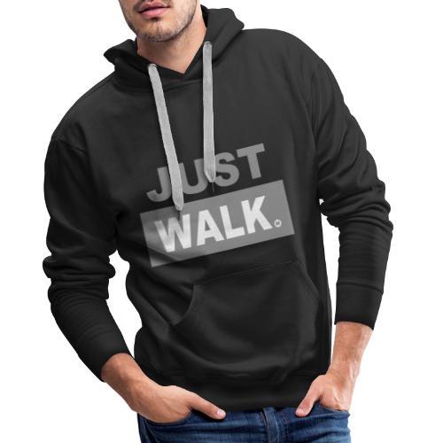 JUST WALK mannen grijs - Mannen Premium hoodie
