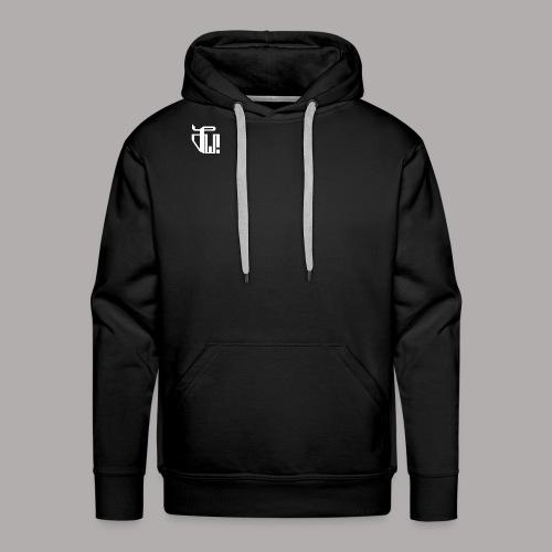 Zirkel, weiss (vorne) Zirkel, r w g (hinten) - Männer Premium Hoodie