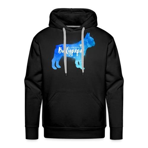 Liebender Bullypapa - Französische Bulldogge - Männer Premium Hoodie