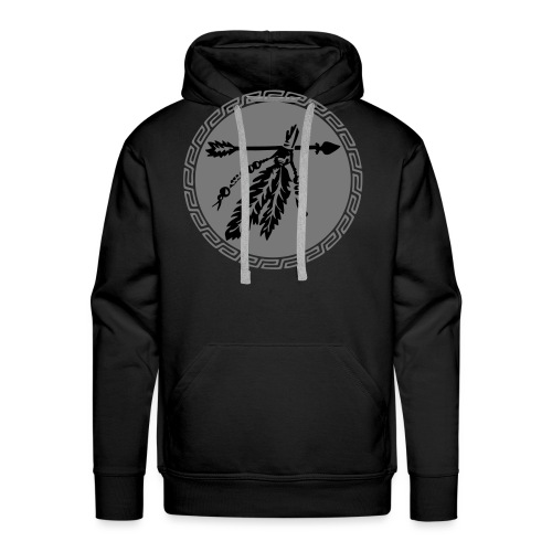 Pfeil mit Federn, Schutz & Kraft Symbol, Indianer - Männer Premium Hoodie
