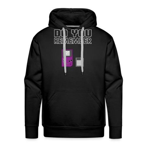 do you remember t-shirt design - Sweat-shirt à capuche Premium pour hommes