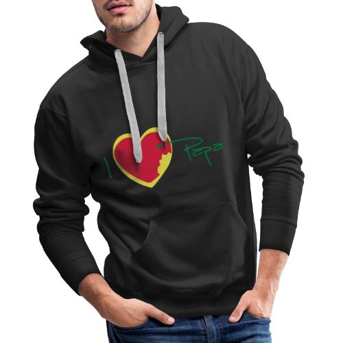I love papa rastafari - Sweat-shirt à capuche Premium pour hommes
