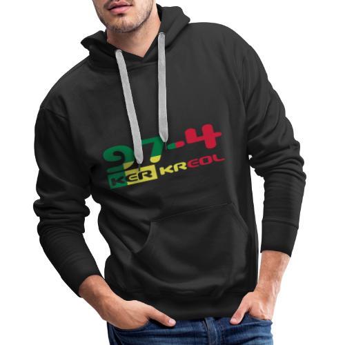 Logo 974 ker kreol VJR, rastafari - Sweat-shirt à capuche Premium pour hommes