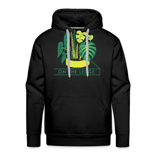 On The Ledge green logo print - Men's Premium Hoodie