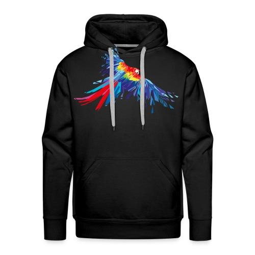 Papagei Federn Aras Vogel Vögel Flügel parrot bird - Männer Premium Hoodie
