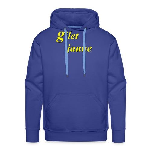 giletjaune - Sweat-shirt à capuche Premium pour hommes
