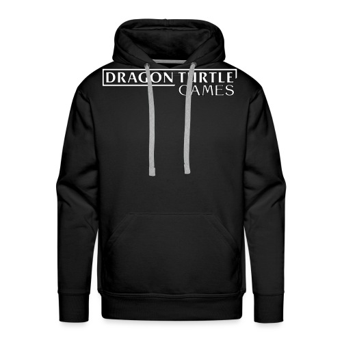 Dragon Turtle Games Logo White - Men's Premium Hoodie