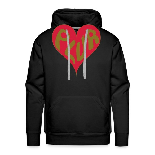 PLUR - Peace Love Unity and Respect with a love - Men's Premium Hoodie
