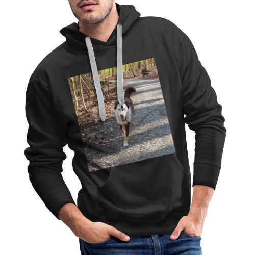 Männerkleidung mit Hund - Männer Premium Hoodie