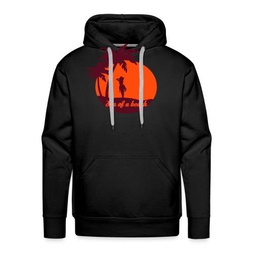 20110519 ytb shirt son rotorange pfade - Männer Premium Hoodie