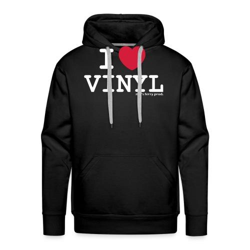 i heart vinyl2 - Männer Premium Hoodie