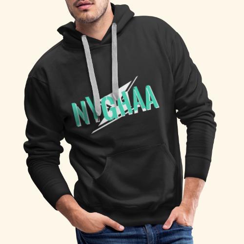 Nyghaa Logo Green - Men's Premium Hoodie