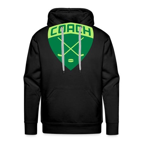 ice-hockey-coach-blue_vec - Men's Premium Hoodie
