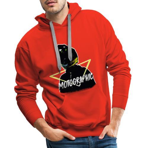 Mannen Premium hoodie - mijn hoofdje door een driehoekje