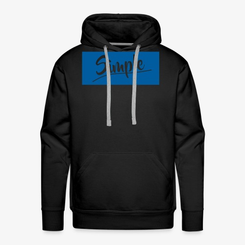 Hettegenser (Blå style logo) - Premium hettegenser for menn