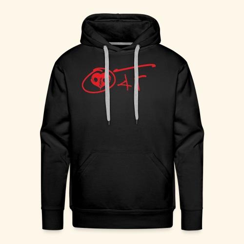 O4F ROSSO - Felpa con cappuccio premium da uomo