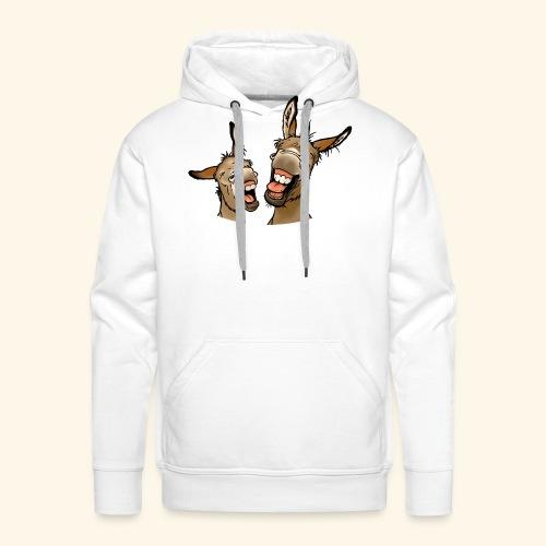 Ane Donk a donkey (texte blanc) - Sweat-shirt à capuche Premium pour hommes