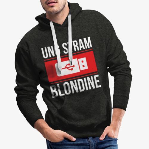 Ung Stram Blondine - Hvid - Herre Premium hættetrøje