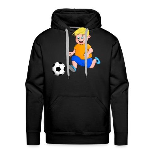 Junger Fußballer - Männer Premium Hoodie