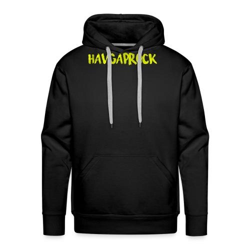 Havgaprock gul tekst - Premium hettegenser for menn
