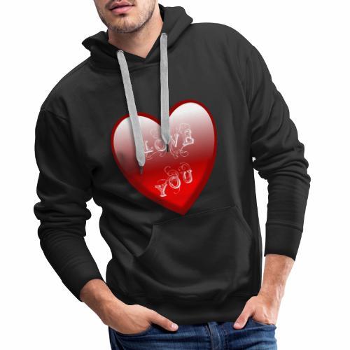 Love You - Männer Premium Hoodie