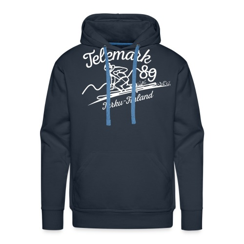 Telemark ´89 logopainatus - Miesten premium-huppari