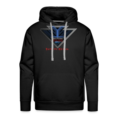 Wild Erah Logo BLACK NAVYBLUE png - Men's Premium Hoodie
