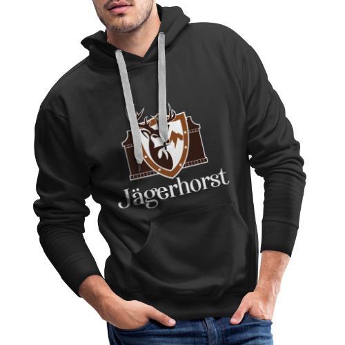 Jägerhorst Logo Weiss - Männer Premium Hoodie