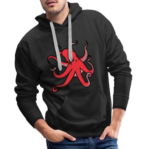 octopus red - Männer Premium Hoodie
