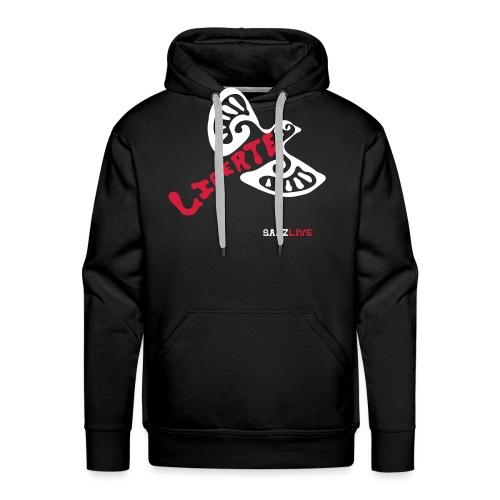 L'oiseau liberté (version light, par éoline) - Sweat-shirt à capuche Premium pour hommes