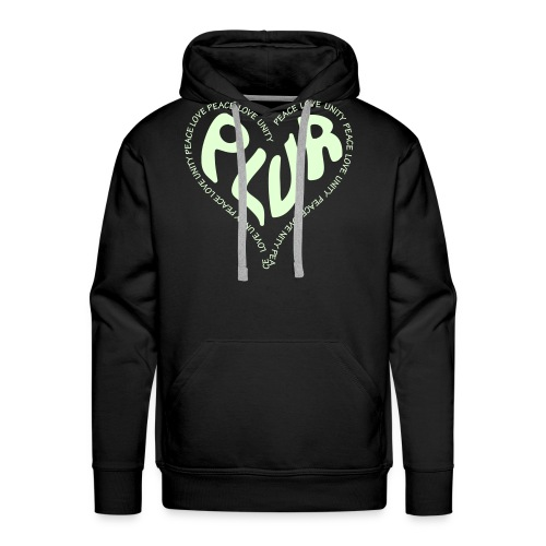 PLUR Peace Love Unity & Respect ravers mantra in a - Men's Premium Hoodie