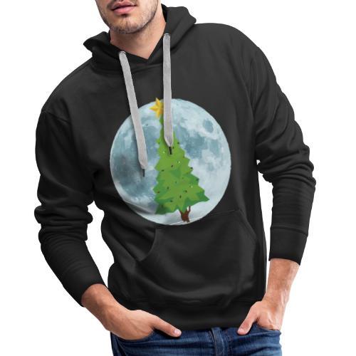 Árbol de Navidad y Luna - Sudadera con capucha premium para hombre