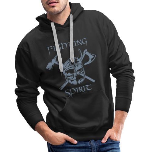 casque pompier fighting spirit - Sweat-shirt à capuche Premium pour hommes